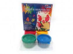 Фарби для пальців J. Otten 4 кольори 35мл 0435RFC ТМКИТАЙ