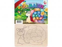Іграшка деревяна Кольоровий Пазлик: Равлик (у) RI16051604 ТМJumbі