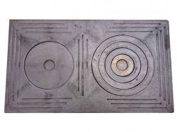 Плита чавунна 2-х камфорна Візерунок 710х410 ТМВОДОЛІЙ-ЯП