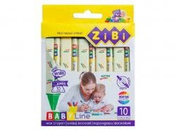 Олівці воскові JUMBO 10 кольорів, трикутні BABY Line ZB.2482 ТМZiBi
