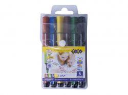 Фломастери 6 кольорів JUMBO ZB.2806 ТМZiBi