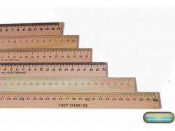Лінійка деревяна 40см (шовкографія) ЛДш40 ТМЛюкс Колор