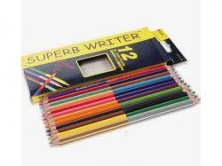 Олівці Superb Writer 24 кольори 12шт №4110-12CB двосторонні ТМMARCO