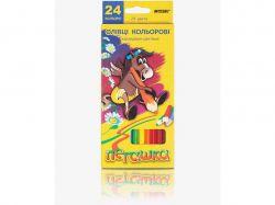 Олівці Пегашка 24 кольори №1010-24CB шестигранні ТМMARCO