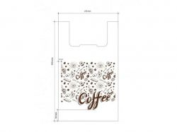 Пакет-майка Кофе 270*460 (100шт) ТМПЛАСТИК ПАК