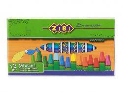 Пастель масляна, 12 кольорів ZB.2490 ТМZIBI