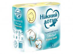 Туалетний папір Арома Голд 4шт 2 шари ТМНіжний дотик