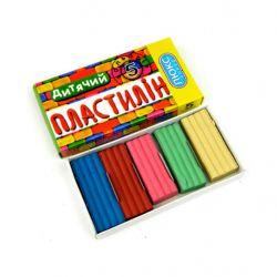 Пластилін Дитячий 5 кольорів 110г ПО-105 ТМЛюкс Колор