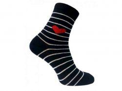 Шкарпетки жіночі Серце синій р.23-25 (10 пар в уп.) 329 ТМCAPITANO