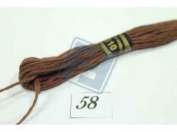 Муліне однотонне (поштучно) 8м 58 (810) ТМCHINA