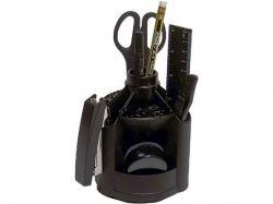 Набір настільний 12 предметів вертушка чорний 4-415 ТМ4OFFICE