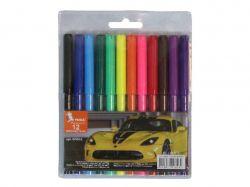 Фломастери Авто 12 кольорів 8.3мм ФЛ45-2 ТМУМКА