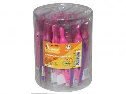Циркуль пластик 120мм в вініловому чохлі, фіолетовий/рожевий ЦР03-07 ТМУМКА