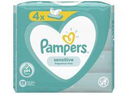 Дитячі вологі серветки PAMPERS Sensitive 4x52шт ТМPAMPERS