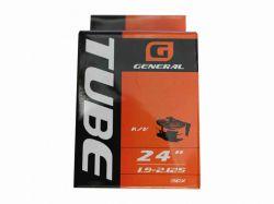 Камера для велосипеда d-24, довгий сосок GENERAL 30% в уп. ТМGENERAL