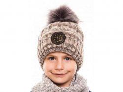 Шапка для хлопчика Бренд D567 кава 3 ТМALEX