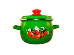 Каструля ем. 5,0л/4 сферична Зелені вишні та яблука (I1916/4) ТМIDILIA - Картинка 1