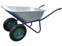 Тачка садова 2-колісна, оцинковане корито, 300кг/100л арт.100985 ТМFORTUNE