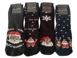 Шкарпетки чоловічі махрові (12пар в упаковці) Новий рік р.41-45 ТМКлевер