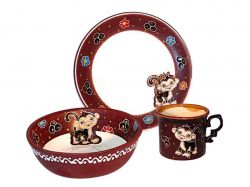 Набір дитячий 3 предмети Мила мавпочка арт.531076 ТМSNT