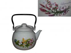 Чайник емальований 3,5л/2 Букет лаванди (бузковий) (I27130/2) ТМIDILIA