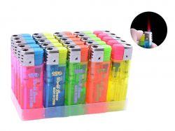Запальничка (турбо полумя) Прозорий різнобарвний №2805-11 ТМSunOPT