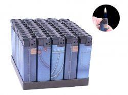Запальничка пластикова (Звичайне полумя) Джинс №616-10 ТМSunOPT