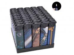 Запальничка пластикова (Звичайне полумя) Джинс №616-90 ТМSunOPT