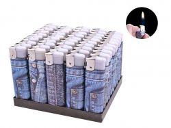 Запальничка пластикова (Звичайне полумя) Джинс №1209-1 ТМSunOPT