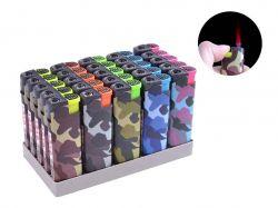Запальничка пластикова (турбо полумя) Камуфляж №505-2 ТМSunOPT