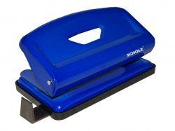 Діркопробивач металевий, 8см, 12 аркушів синій, 4316 ТМScholz