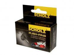 Кнопки-цвяхи, 30шт, кольорові, 4841 ТМScholz