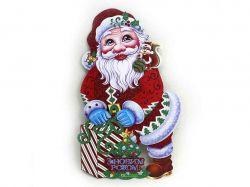 Плакат Дід Мороз з мішком 35см, український напис 9830 ТМКИТАЙ