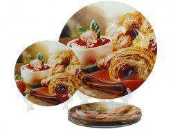 Набір для торта 7пр. скляний Круасани T 310 ТМLUMINES