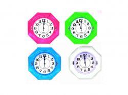 Годинник №690 настінний пластик 4 кольори 23х23х4см 00427 ТМOPV