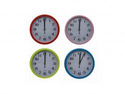 Годинник №G601 настінний пластик 4 кольори 21х21х5см 00329 ТМOPV