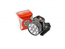 Ліхтар №1396-7 на голову круглий 3R6, 7 ламп чорний 11882 ТМOPV