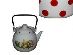 Чайник емальований 3,5л/2 Червоний горох (I27130/2) ТМIDILIA