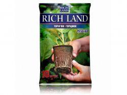 Горщик торфяний для розсади 6х6см квадрат (10шт/уп) ТМRICH LAND