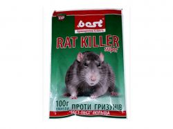 Гранули від гризунів Rat Killer SUPER 100г ТМBEST PEST
