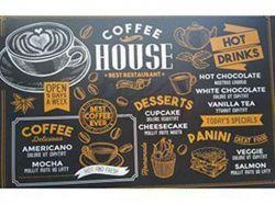 Клейонка настільна пластик 28х44см, товщина 0.40мм Coffee House ТМИюию