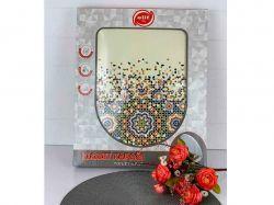 Сидіння для унітазу пластик з малюнком Мозаїка ТМELIF - Картинка 1