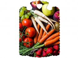 Дошка обробна (28х21,5х6см) Овочі 23803 ТМСЛОВЯНОЧКА