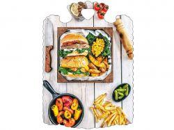 Дошка обробна (28х21,5х6см) Бургер 23800 ТМСЛОВЯНОЧКА