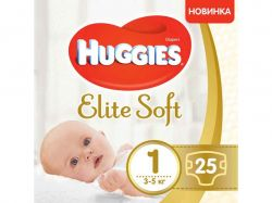 Підгузки Elite Soft 1 3-5кг 25шт Conv ТМHuggies