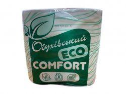 Туалетний папір (нов упаков) Эко комфорт 8 шт*45 м ТМОБУХОВ