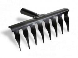 Граблі завиті 8 зубців, чорні ТМТОКМАК