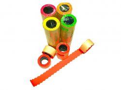 Етикетки-цінники фігурні 26х12 мм (5 шт в уп), 6 м. кол. помаранчевий ТМКИТАЙ