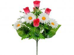 Букет бутони Роз з Ромашкою, 47 см. (г-10; р-10) 194 2 шт. ТМКИТАЙ
