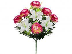 Букет штучних Лілій та Роз, 57см. (г-12; р-10) 771 ТМКИТАЙ